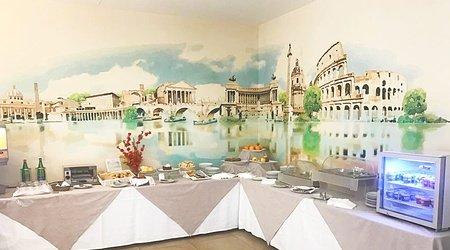 Ristorante oasis colazione ele green park hotel pamphili roma, italia