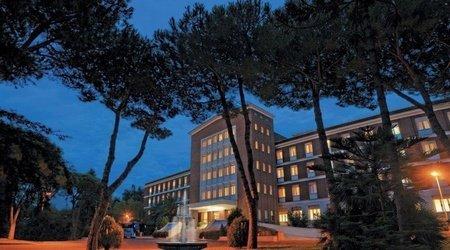 Facciata ele green park hotel pamphili roma, italia