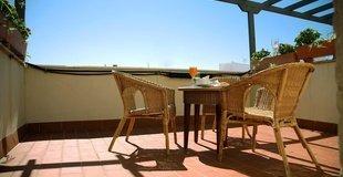 HabitaciÓn doble con terraza hotel ele santa bárbara sevilla
