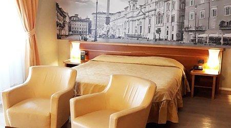 Camera deluxe doppio ele green park hotel pamphili roma, italia