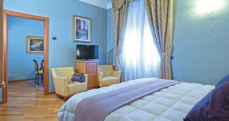 Suite ele green park hotel pamphili roma, italia