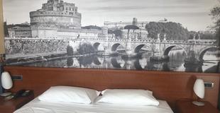 Camere standard ele green park hotel pamphili roma, italia