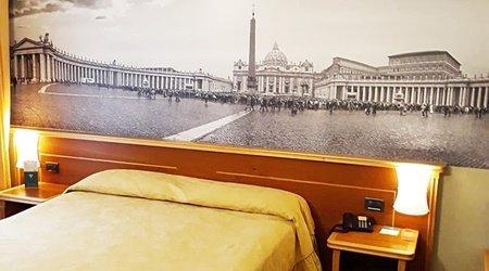 Camera superior ele green park hotel pamphili roma, italia