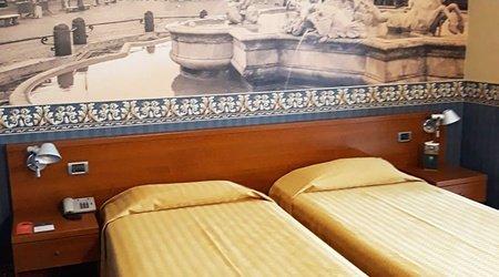 Stanza standard ele green park hotel pamphili roma, italia